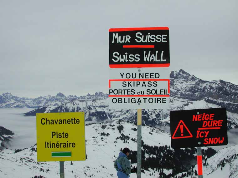 Portes Du Soleil Champery Avoriaz 8 2 2006 Mur Suisse Alagna